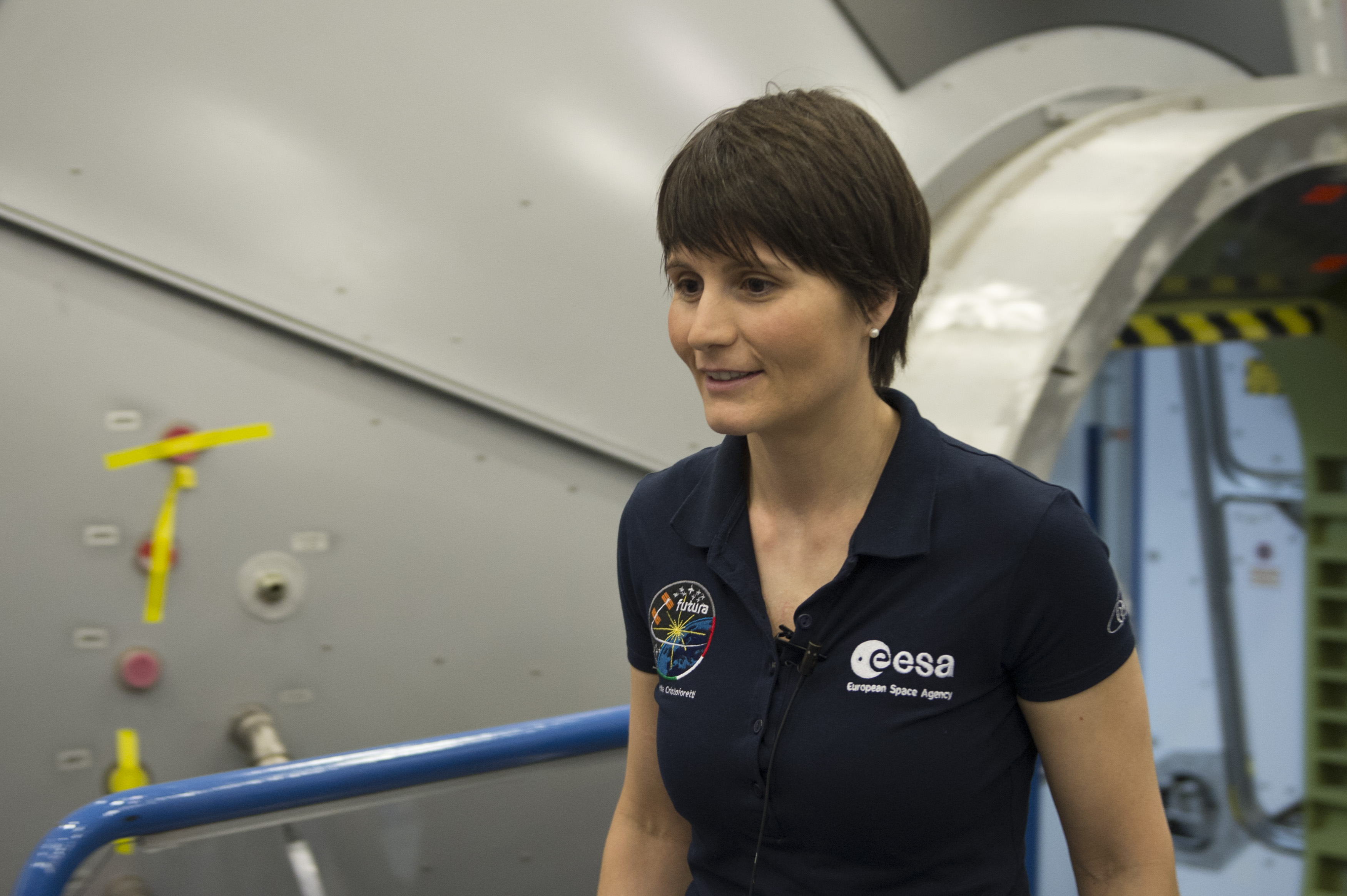 Training of ESA astronaut Samantha Cristoforetti at NASA JSC fac