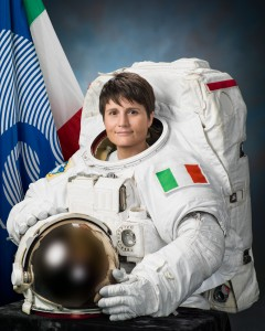 Samantha Cristoforetti, attired in an Extravehicular Mobility Unit (EMU) spacesuit. Credits: NASA