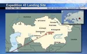 Landing site. Credits: NASA